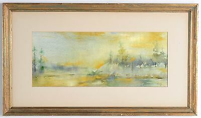 ROOKWOOD ARTIST ED DIERS ? Beautiful Impressionistic Watercolor Painting