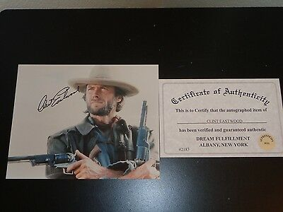 CLINT EASTWOOD SIGNED 8x10 THE OUTLAW JOSEY WALES PHOTO AUTOGRAPHED WITH COA!