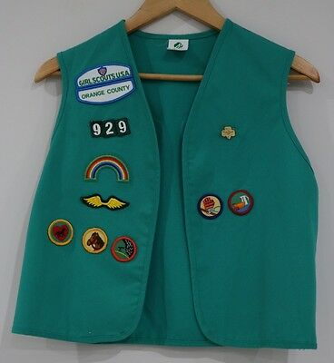 Girl Scouts Of America USA Vest Vintage With Patches