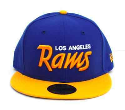 NFL LOS ANGELES Rams New Era Script 59Fifty Fitted Hat - Royal Gold ... 2bfe19a7a