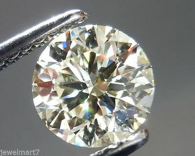 Moissanite   1.29  Ct.7.36  mm WHITE YELLOW  SV2 Brilliant Round cut  TESTED