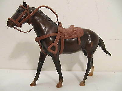 Vintage Breyer Paddock Pals 1026 Chocolate Mustang Stallion with Tack