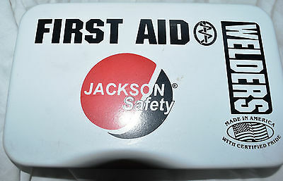 JACKSON SAFETY FIRST AID KIT for WELDING SHOP NEW in WALL MOUNT metal container