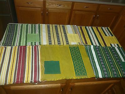Vintage Lepanto Fabrics Hand Woven Mt. Provence Philippines set of 6 Placemats