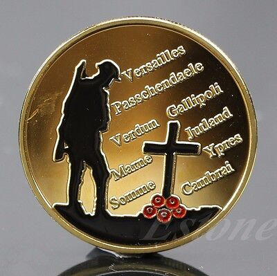 The Great War Gold Plated Commemorative Coin Art Collection Colored