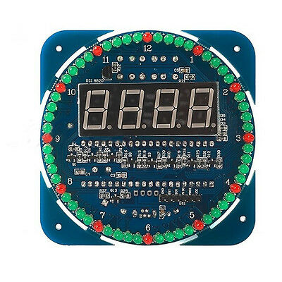 2016 DIY DS1302 Rotating LED Electronic Digital Clock Kit 51 SCM Learning Board