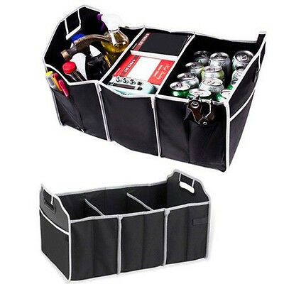 Extra Large Car Auto Trunk Organizer with 3 Compartments Folded Organization Bag