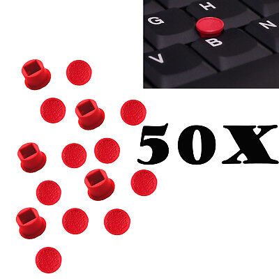 50 Red TrackPoint Caps Mouse Soft Rim for IBM Lenovo Thinkpad A T G X R Series