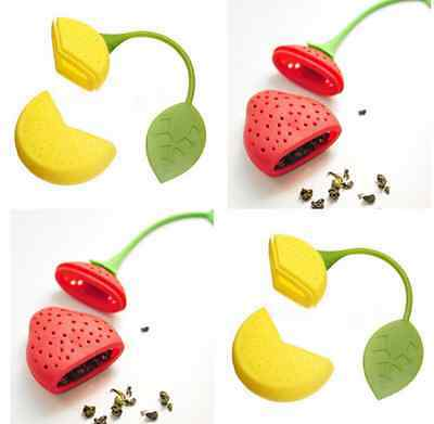 New Silicone Loose Tea Leaf Strainer Herbal Spice Infuser Diffuser Filter