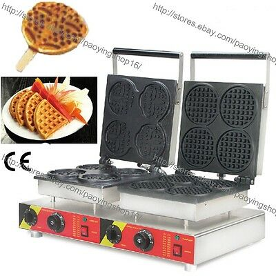 Commercial Nonstick Electric Bear Waffle Stick Maker Round Mini Waffle Machine