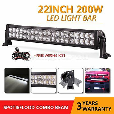21inch 120W LED Light Bar Combo Spot&Flood 4D Work Driving 4WD Offroad+Wiring