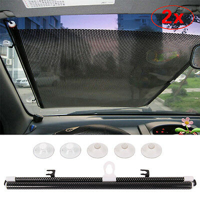 2 Pc 70cm Car Window Sun Shade Roller Blind Screen Protector Protection Children