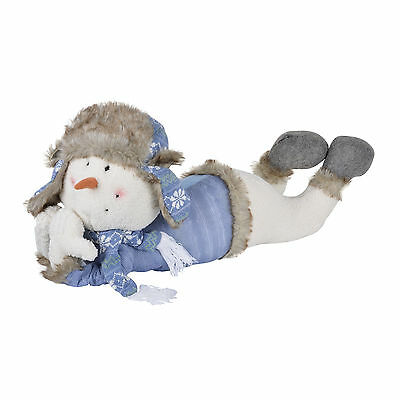 Plush Stuffed Snowman Indoor Decoration Fluffy Weighted Base Large Xmas Décor