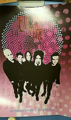 The Cure Concert Poster Chicago Robert Smith