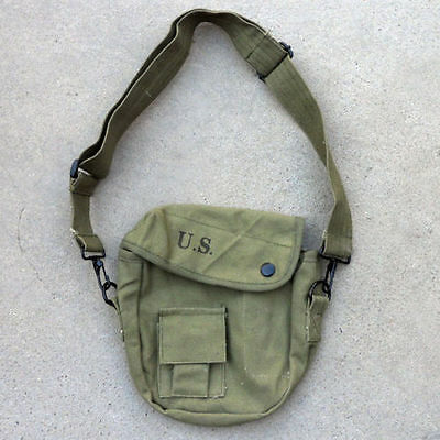 Vietnam War US Army USMC Military Canteen Cover Pouch OD Green