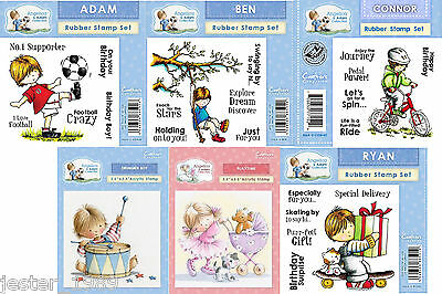 Crafters Companion Angelica and Adam Rubber Stamp - FREE UK P&P
