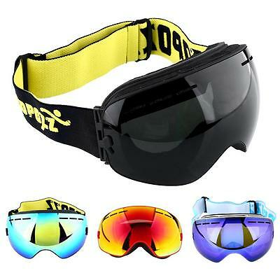 Double Lens Snowboard UV Anti-Fog Goggles Mask Eye Protective Glasses