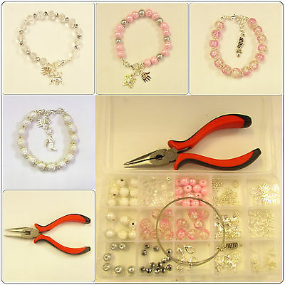 Adult Bracelet Jewellery Making Kit,Tools, Beads, Findings - Instructions