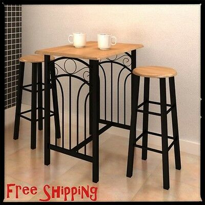 Ikea stornas extendable table in antique stain and 6 henriksdal chairs picclick uk - Small spaces kitchen table pict ...