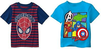 Marvel Toddler Boys Spider-Man or The Avengers T-Shirts Sizes 3T or 5T NWT
