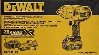 "Dewalt Dcf899Hp2 1/2"" High Torque Hr Impact Wrench Kit"