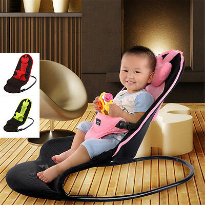 Infant Baby Bouncer - Unisex Balance Chair Toddler's Soft Seat Rocker Adjustable