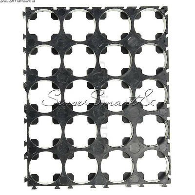 2PCS 4x5 Cell 18650 Batteries Spacer Radiating Shell Plastic Heat Holder Bracket