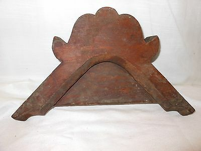 Architectural Furniture Salvage Carved Wood Pediment Crown Piece