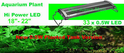 "2 X Aquarium Led Daylight Fish Tank Light Tropical Planted 18"" 45Cm Double Pack"