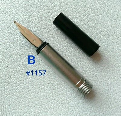 Montblanc Fountain Pen No.1157 Nib Size B White gold 585 Part Pen NOS #4 • CAD $97.17