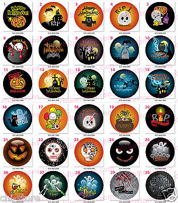 "Halloween holidays buttons - 58mm (2 1/4"")  4 pcs/pack (One Image Only) ----1-30"