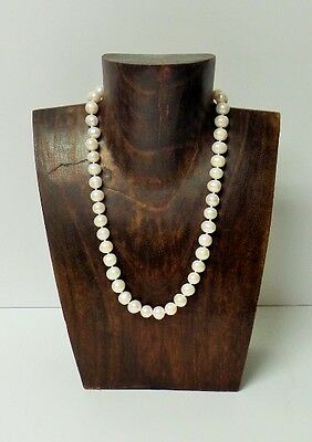 Walnut Color Natural Wood Necklace Display (H:10inches x W:7 inches)