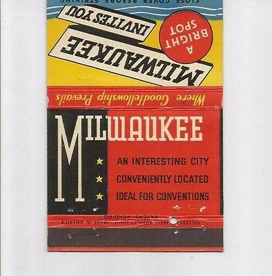 MATCHBOOK COVER Milwaukee Royal Flash