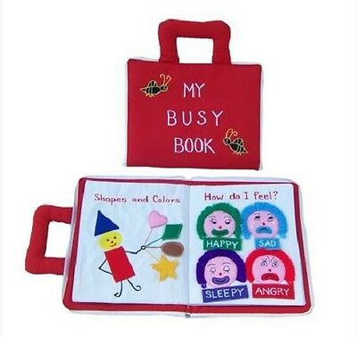 Brand New My Busy Book Childrens Activity Cloth Book Travel ABC Feelings