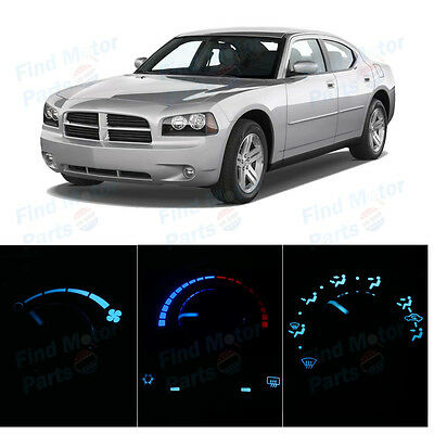 Ice Blue Heater Climate AC Control Bulbs LED Lights for Charger 3 Knob 06-10