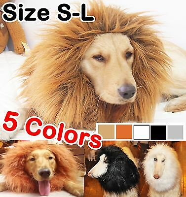 Pet Costume Lion Mane Wig for Dog Halloween SandaClothes Festival Fancy Dress EH