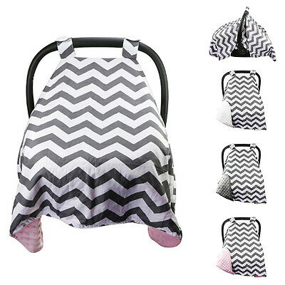 Baby Infant Boy Girl Car Seat Cover Cotton Soft Carseat Canopy Blanket