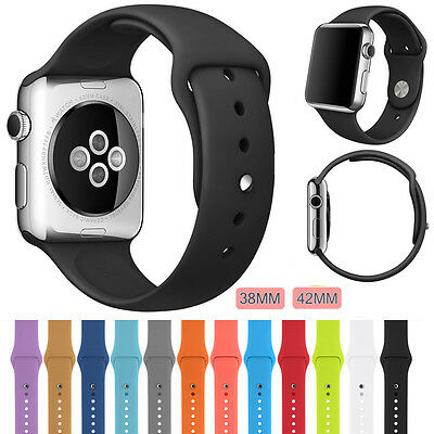 New For iWatch Bands Sports Silicone Bracelet Strap Band For Apple Watch 38/42mm