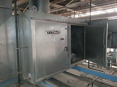 Titan 22,000 CFM Direct Fired Natural Gas Air Make-up Unit Galvanized IN/OUTDOOR