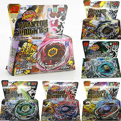 Kids Toys Rare Beyblade Fusion Top Metal Fight Master 4D Rapidity Launcher Set