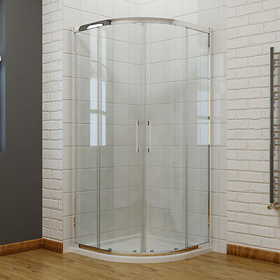 Quadrant Shower Cubicle Enclosure and Tray  8mm Easy Clean Glass Screen Door