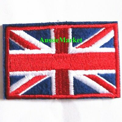 1 x england flag patch iron sew on british union jack u.k. country great britain