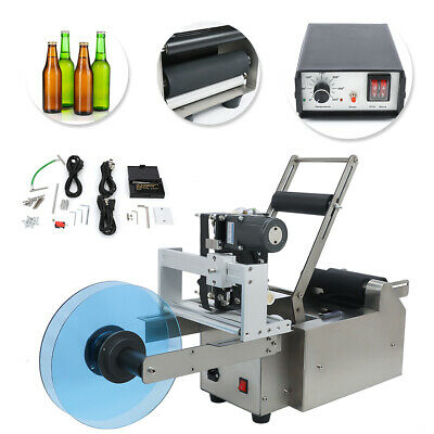 New Automatic Round Bottle Label Machine With Date Code Printer Labeller Lt-50D