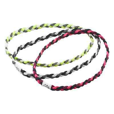 Kathmandu Multi Coloured Hair Band Plaited Fitness Sports Headband - 3PK