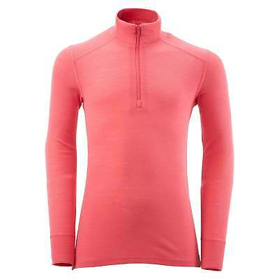 Kathmandu merinoBASE Kids Girls Merino Wool Long Sleeve 1/2 Zip Thermal Top Pink