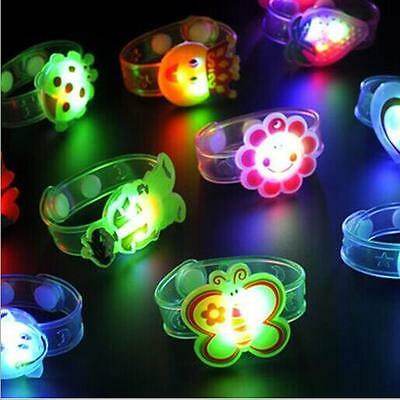 2pcs Kids Gift Bracelet Wrist Watch Supplies Flash Light Led Adjustable Toy