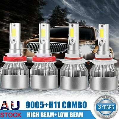 2x 9inch 90W Philips LED Light Bar Spot Flood Offroad Driving Work Lamp 4wd SUV