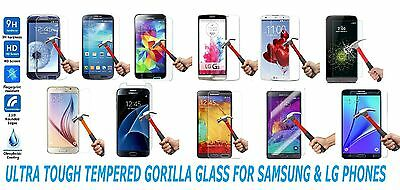 Gorilla Tempered Glass For Samsung Galaxy S3 S4 S5 S6 S7 Note 3 4 5 Lg G3 G4 G5