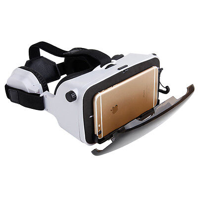 VR Virtual Reality Headset 3D Video Glasses w/ Headphone for iPhone 6 Plus AC502