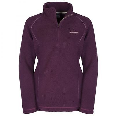 Craghoppers Ladies Womens Bronwyn Half Zip Fleece Jumper Warm Top in Rioja Red